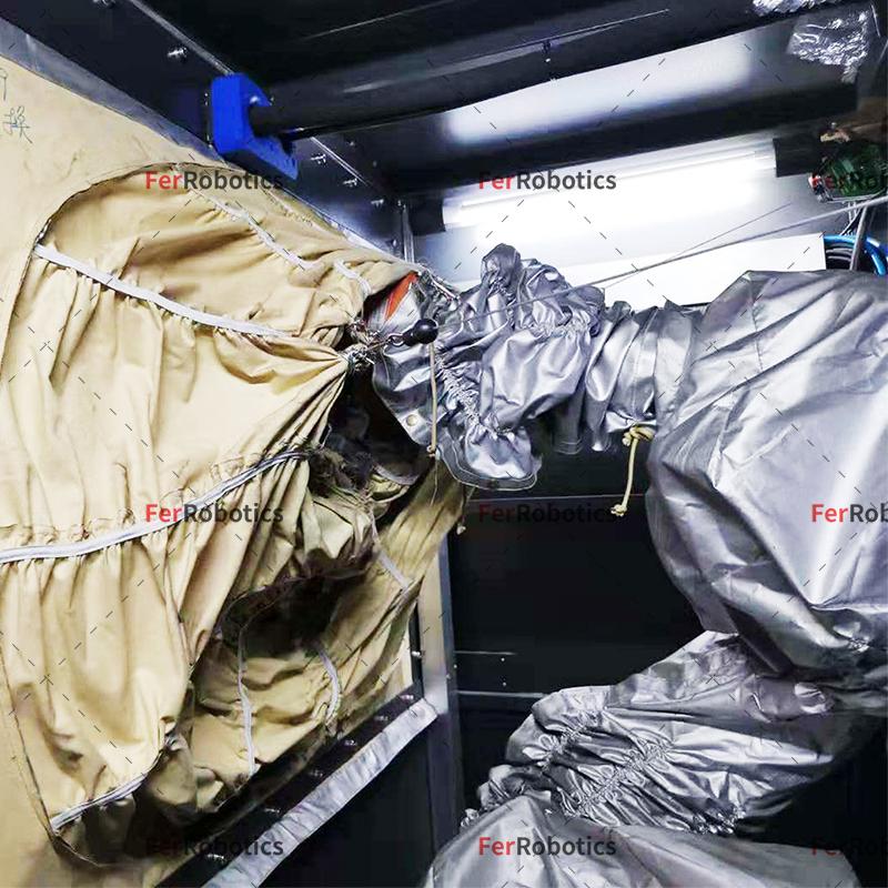 喷砂机器人屏风防护罩